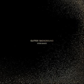 Luce stardust oro, sfondo glitter