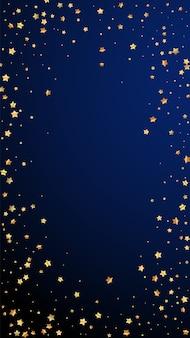 Stelle d'oro coriandoli scintillanti di lusso casuale.