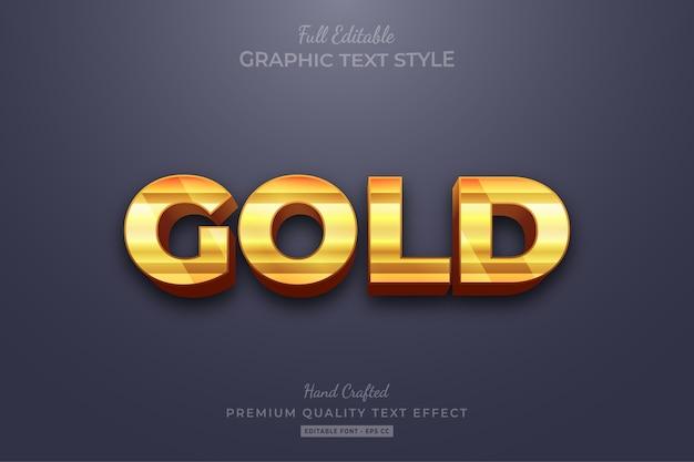 Effetto stile testo modificabile striscia d'oro premium