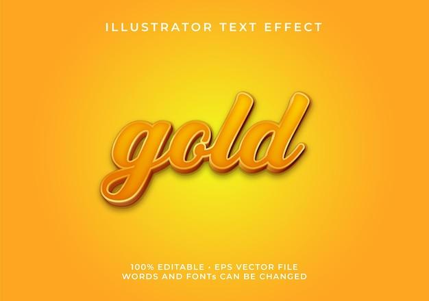 Effetto testo oro modificabile