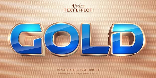 Effetto testo modificabile in stile dorato con testo dorato gold