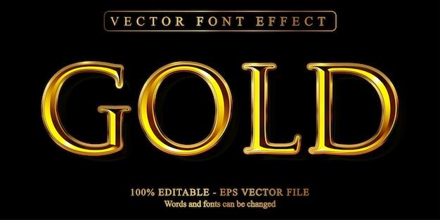 Testo in oro, effetto di testo modificabile in stile dorato