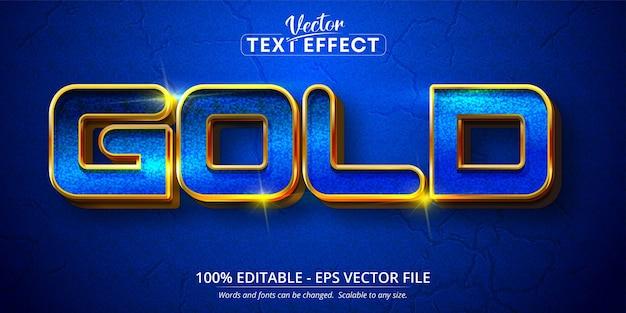 Testo in oro, effetto di testo modificabile in stile dorato di lusso