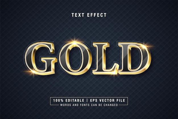 Effetto stile testo oro