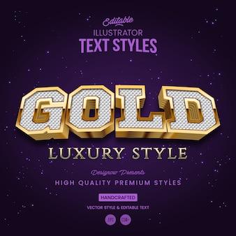 Stile di testo d'oro