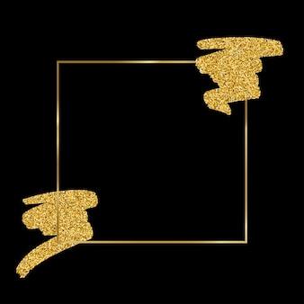 Sfondo nero con particelle dorate glitter punti | Vettore Gratis