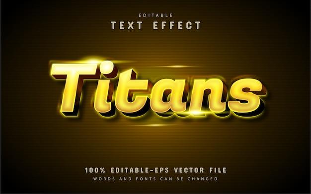 Effetto testo titani d'oro