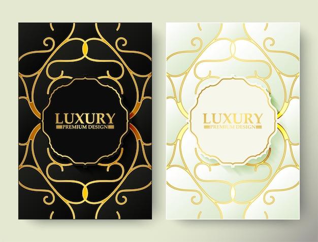Copertura a forma di ornamento oro e bianco