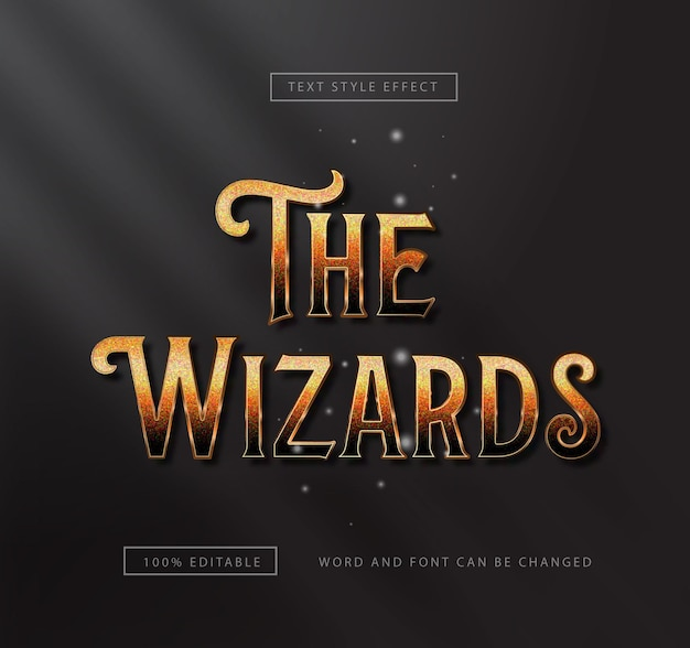 Gold the wizard text effect