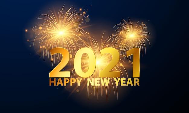 Sfondo dorato felice anno nuovo 2021