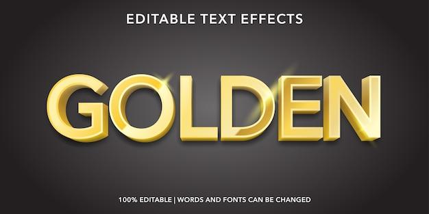 Effetto testo modificabile stile 3d dorato
