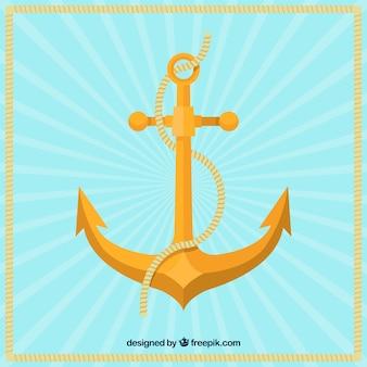 Sfondo di ancoraggio d'oro