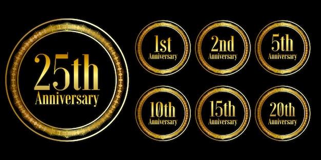 Set di schemi celebrazione anniversario d'oro