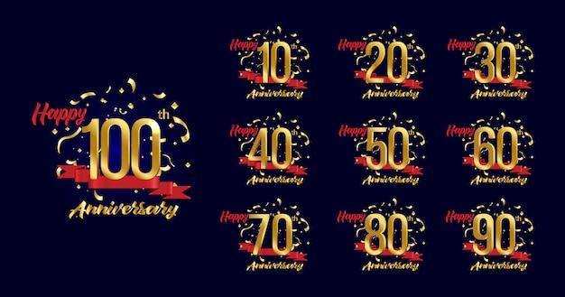 Set premium celebrazione anniversario d'oro.