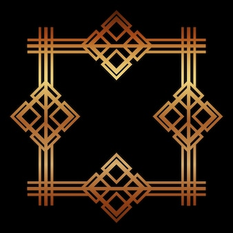 Cornice dorata art deco decorativa reale geometrica