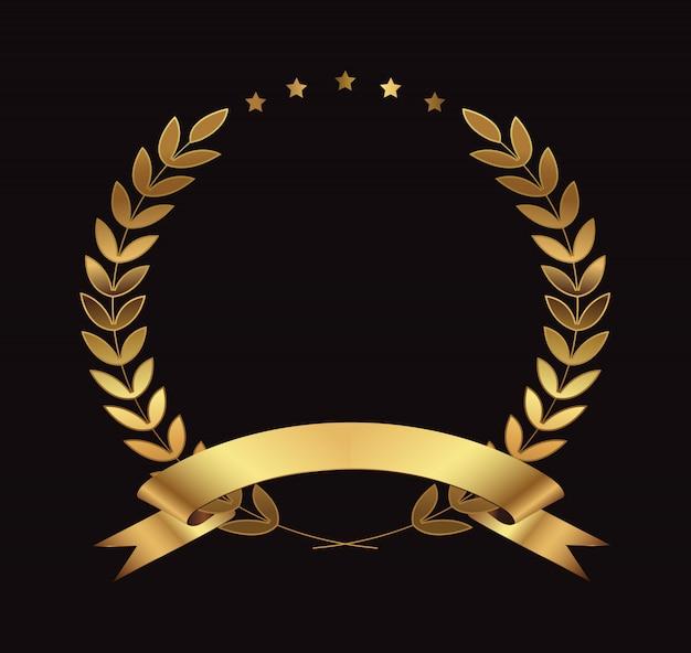 Corona d'alloro d'oro premio