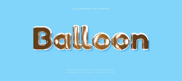 Pallone d'oro lucido effetto testo stile carattere