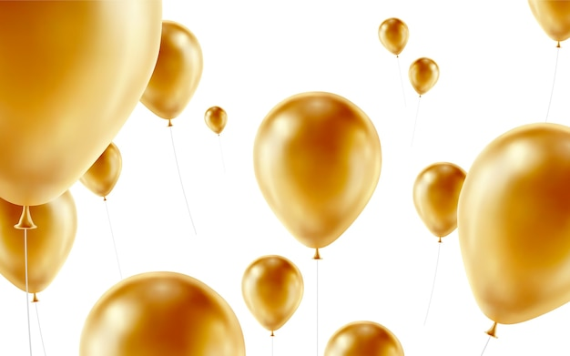 Illustrazione di sfondo palloncini dorati
