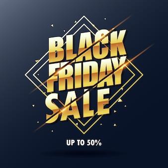 Testo di vendita venerdì nero dorato