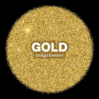 Cerchio d'ardore luminoso dorato su priorità bassa nera. concetto di logo emblema oro gioielli.