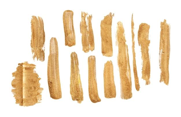 Set di pennellate d'oro