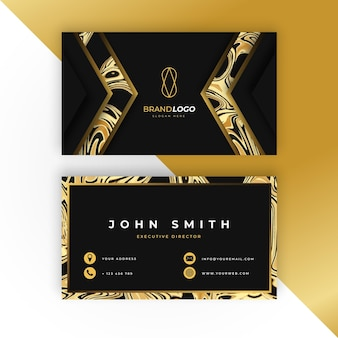 Modello di biglietto da visita d'oro