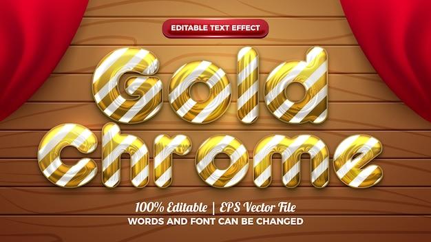 Effetto di testo modificabile 3d con sfera elio cromata dorata