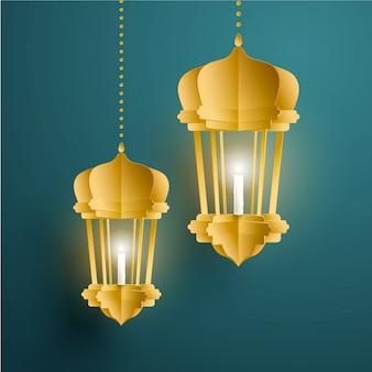 Fanoos di colore dorato sospesi nell'aria su sfondo turchese scuro