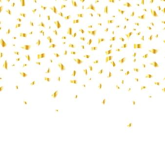 Coriandoli dorati su bianco