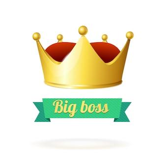 Concetto di corona d'oro. un simbolo di potere.