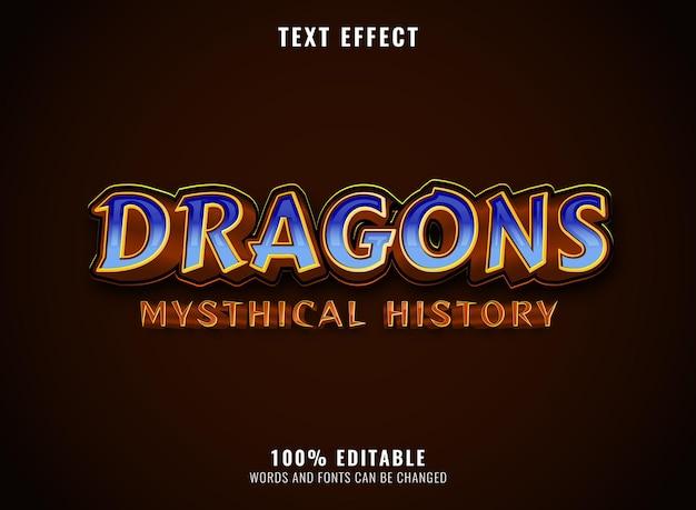 Effetto testo modificabile del testo del logo del gioco con testo del carattere del diamante dorato