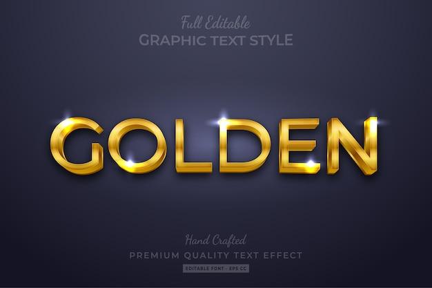 Effetto dorato modificabile stile testo personalizzato premium