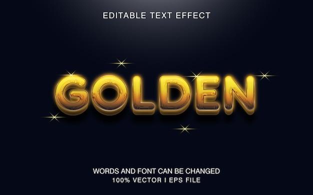 Effetto di testo dorato e modificabile con uno stile di colore moderno.