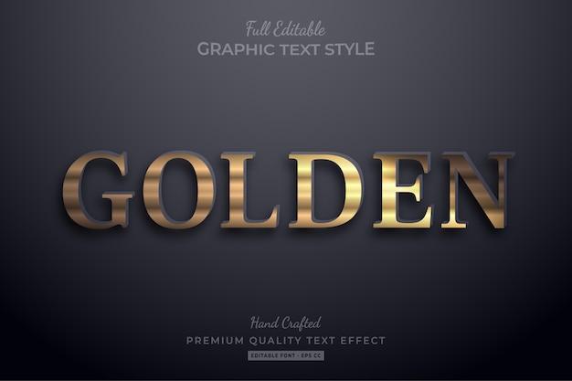 Stile carattere dorato elegante effetto testo modificabile
