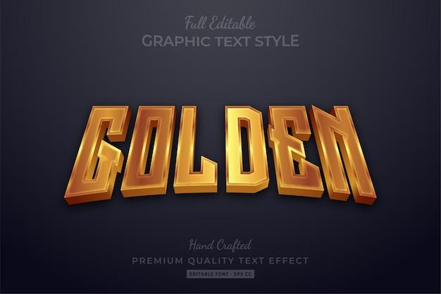Effetto dorato elegante stile testo modificabile premium