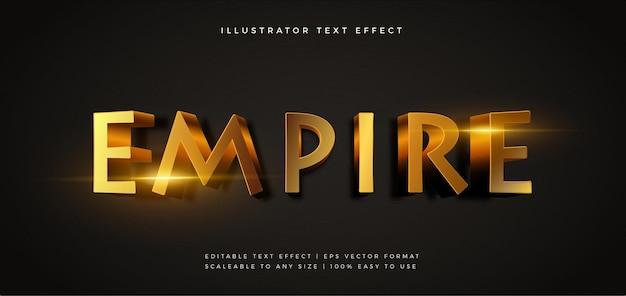 Effetto carattere stile testo incandescente elegante dorato