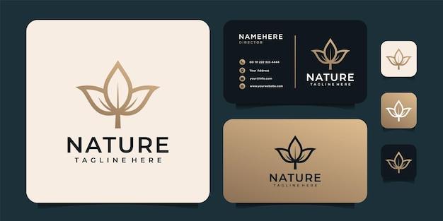 Logo della natura del fiore d'oro