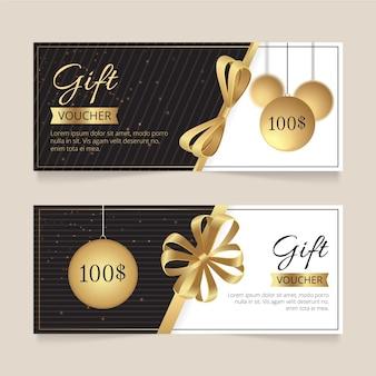 Modello del buono regalo d'oro