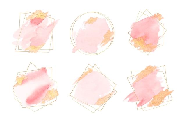 Collezione di cornici glitter dorate