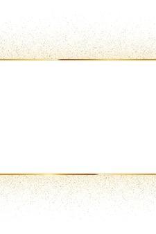 Scintillio dorato e cornice lucida, sfondo di lusso verticale.