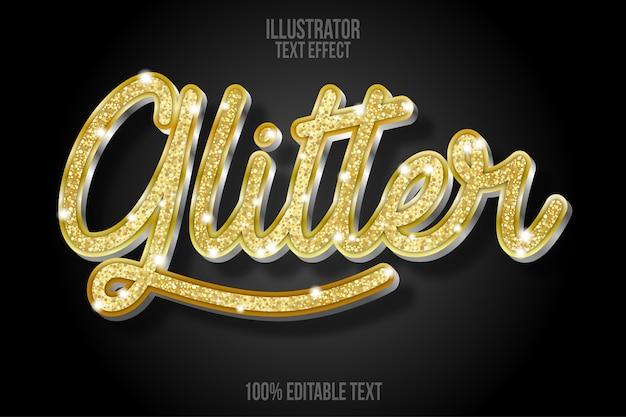 Effetto di testo glitter dorato