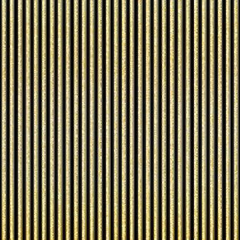Motivo a strisce scintillanti dorate. strisce dorate verticali. sfondo nero.
