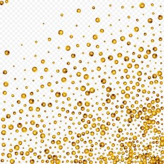 Sfondo trasparente di vettore nuziale bagliore dorato. illustrazione rotonda di natale. sfondo festivo di lustro d'oro. cartolina lucida di polvere.