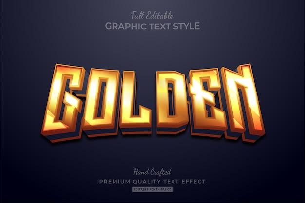 Effetto stile testo premium modificabile bagliore dorato