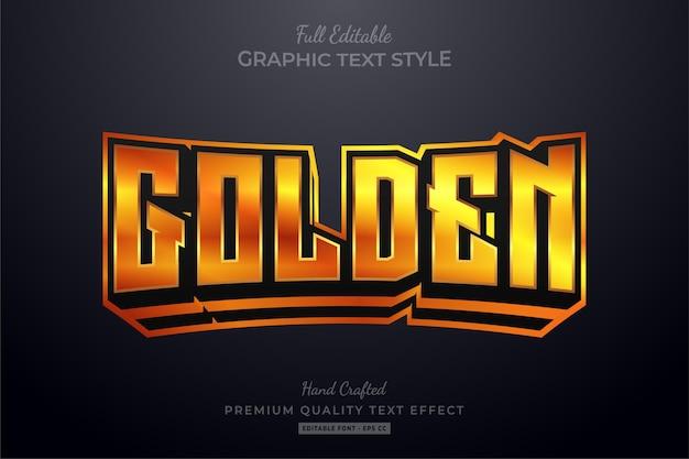 Effetto stile testo modificabile bagliore dorato
