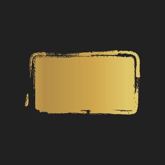 Forme rettangolari dipinte vintage grunge dorato. illustrazione vettoriale.