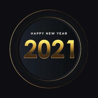 Sfondo dorato felice anno nuovo