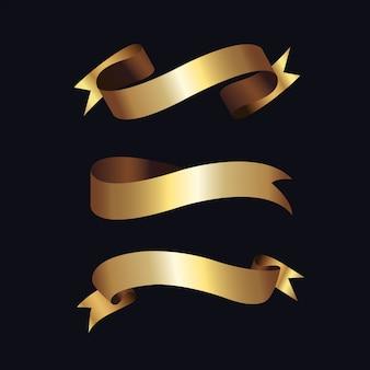 Etichette dorate con cornice dorata su beige