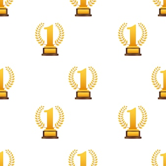 Golden laurel per il modello al primo posto. illustrazione di riserva di vettore.