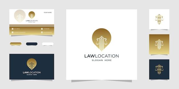 Logo della posizione della legge d'oro